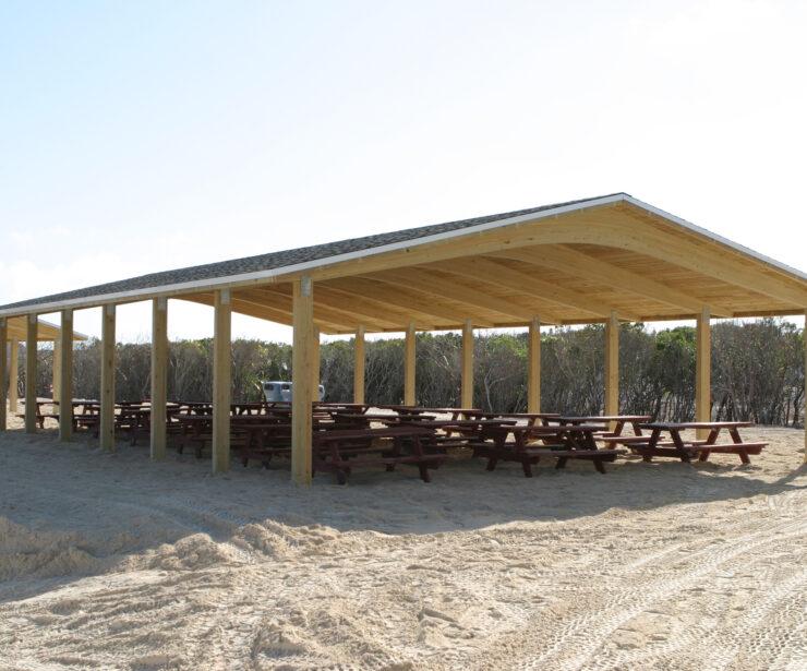 Laminated Wood Gable Shelter