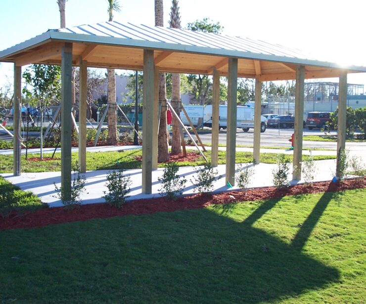 Laminated Wood Hip Shelter