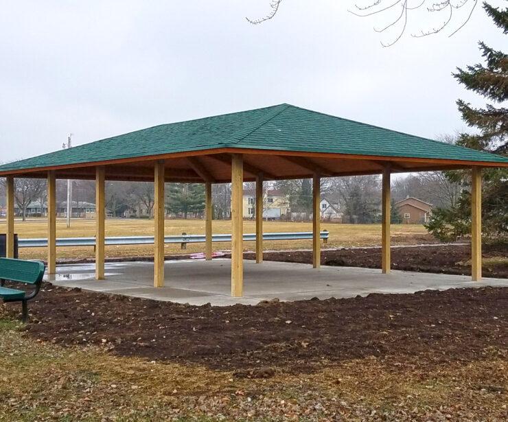 Laminated Wood Hip Shelter