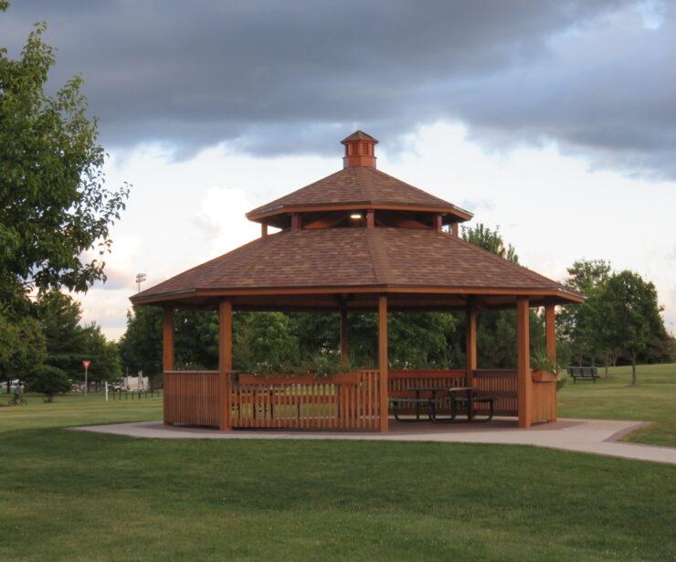 Laminated Wood Octagon Shelter